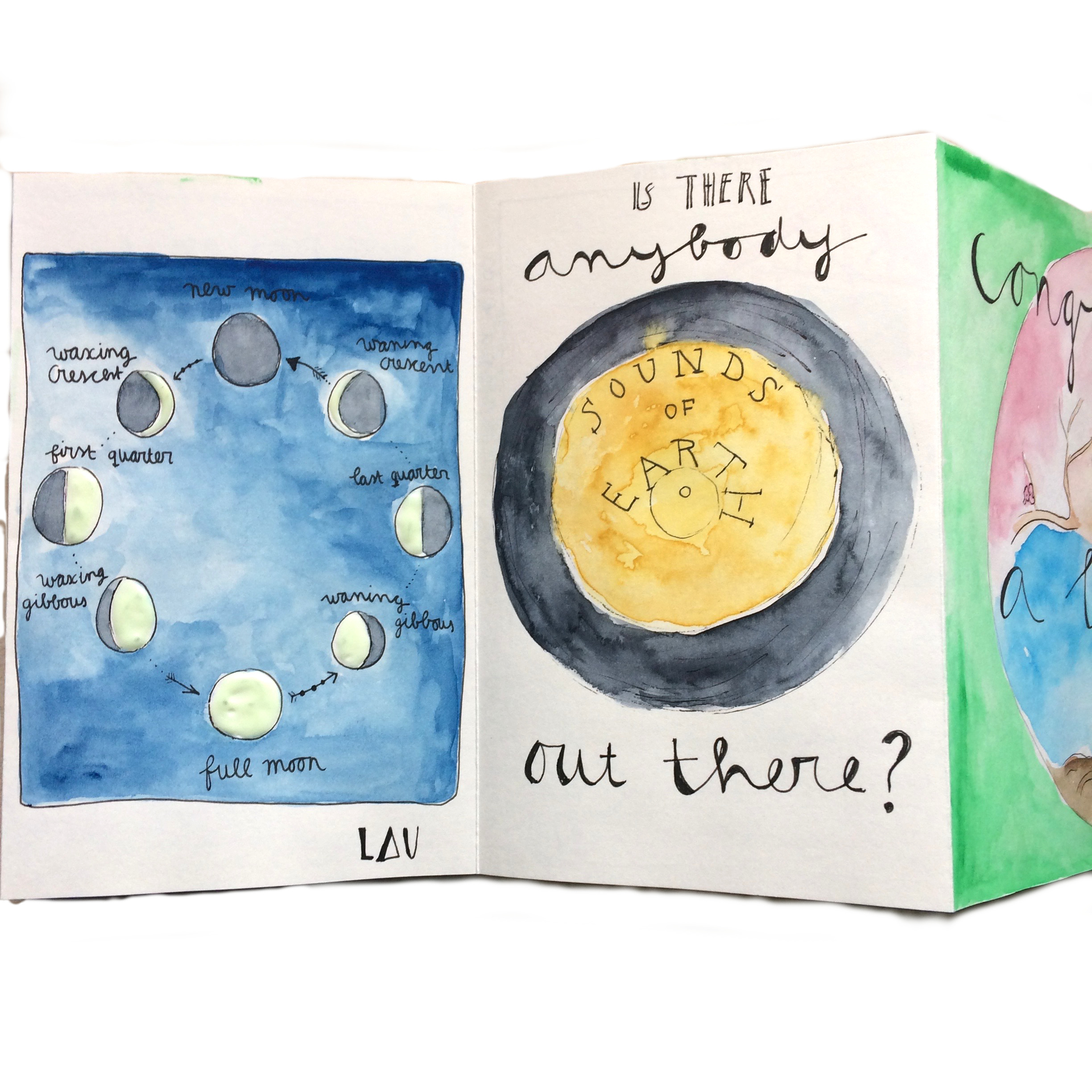 Drawing from the mini book ´a tiny universe´