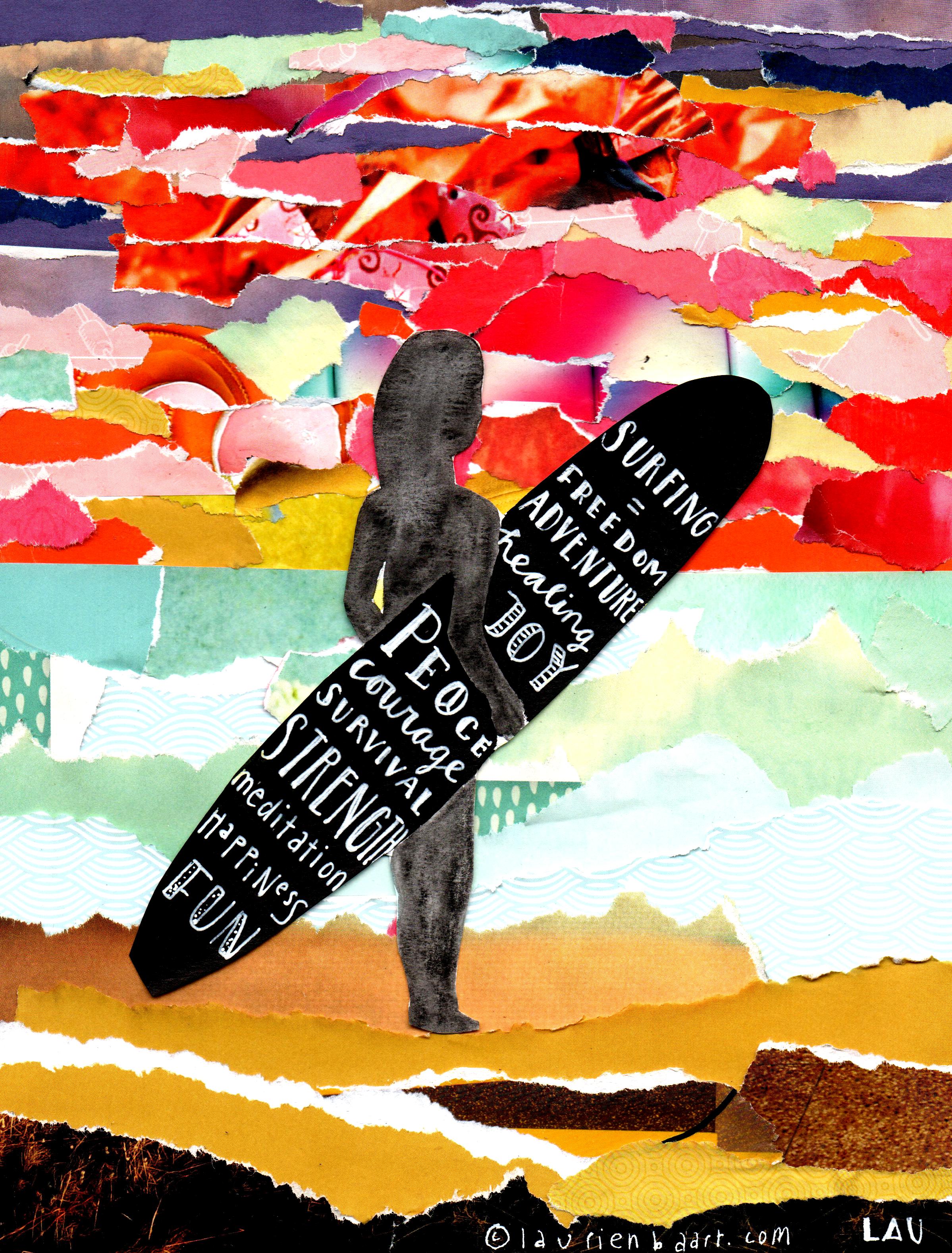 Surfing is... Laurien Baart