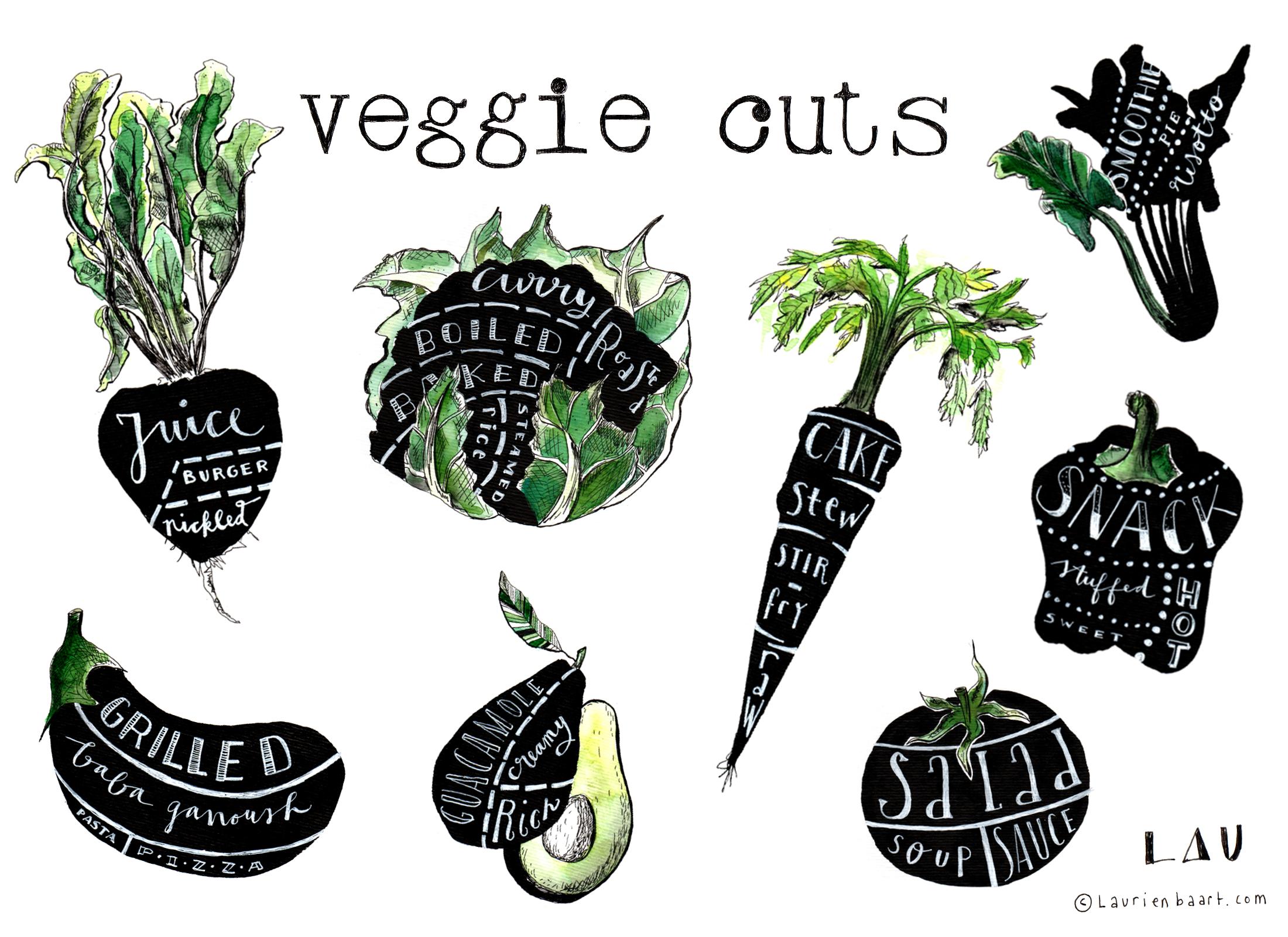 veggie illustration Laurien Baart