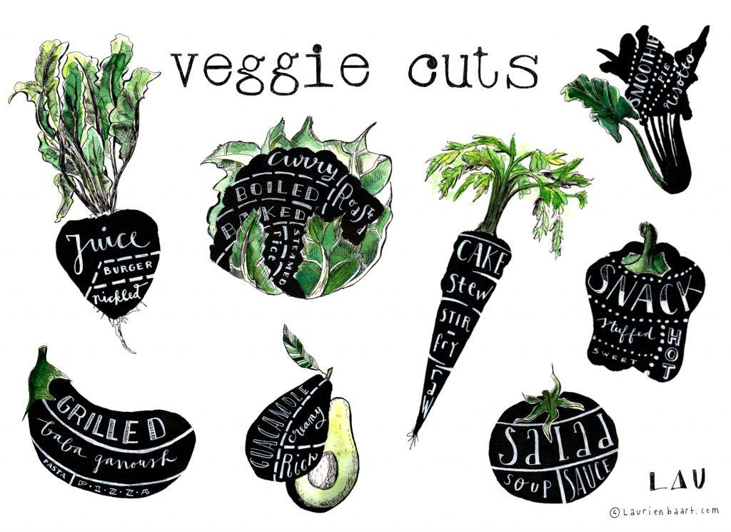 Veggie cuts by Lau